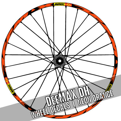 DEEMAX DH Downhill Style Roue Autocollants Stickers MTB bike adesivi PEGATINAS
