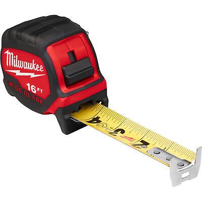 MILWAUKEE 48-22-6616 Tape Measure,SAE,Blade 16 ft L