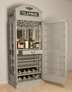 Drinks Cabinet Iconic Bt Telephone Box Style Bar In
