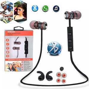 In-Ear Metal Wireless Sports Bluetooth Stereo Headphone Earbuds Headset Earphone