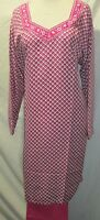 Beautiful Folwar Prented Salwa Kameez Material French Crepe Size Xl 44