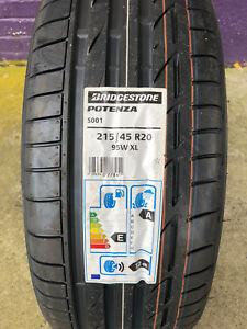 1-New-215-45-20-Bridgestone-Potenza-S001-95W-Tire