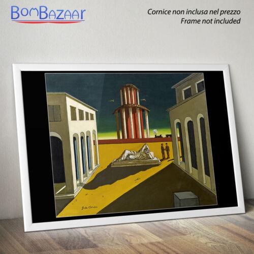 stampa su CARTA FOTOGRAFICA //TELA CANVAS De Chirico Quadro surrealista Arte