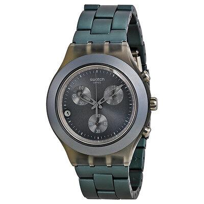 Swatch Full Blooded Smoky Grey Chronograph Grey Aluminium Mens Watch SVCM4007AG
