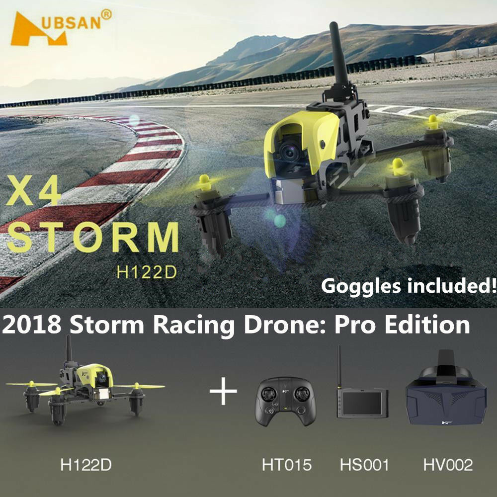 Hubsan H122D X4 Storm FPV Micro Racing Drone RC APP Quadcopter With 720p Camera