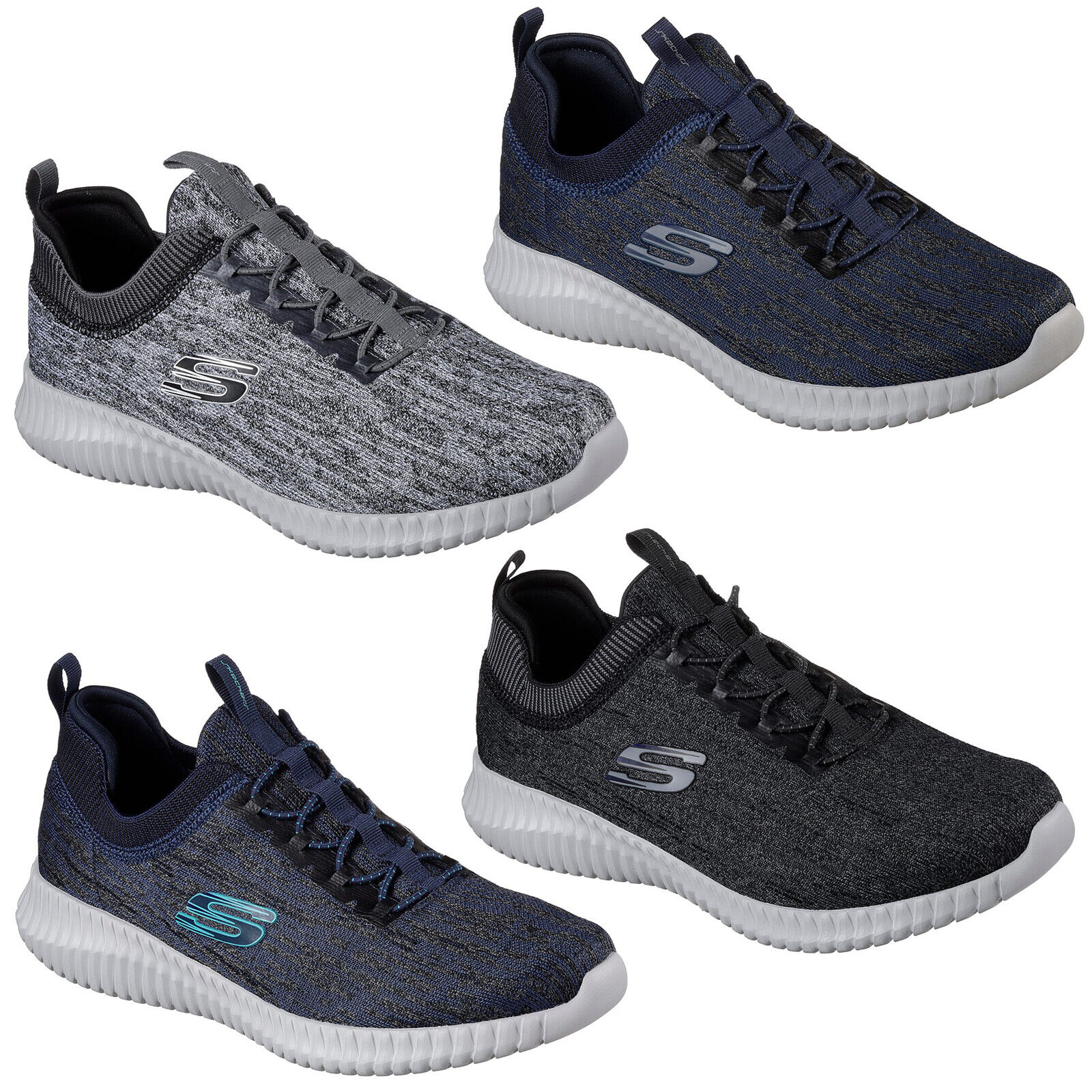 Skechers  Elite Flex Hartnell Trainers Mens Memory Foam Sports Fashion shoes  cheap in high quality