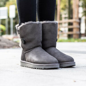 Winterschuhe Button Ugg Bailey Damen Australia Gefüttert Ii Women Stiefel Boots AL3Rj45