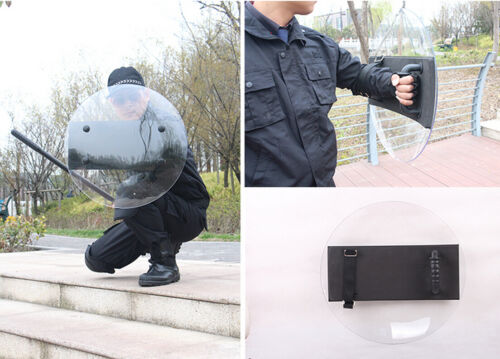 Thicken Round PC Anti-Riot Shield for Police Tactical CS Campus Security