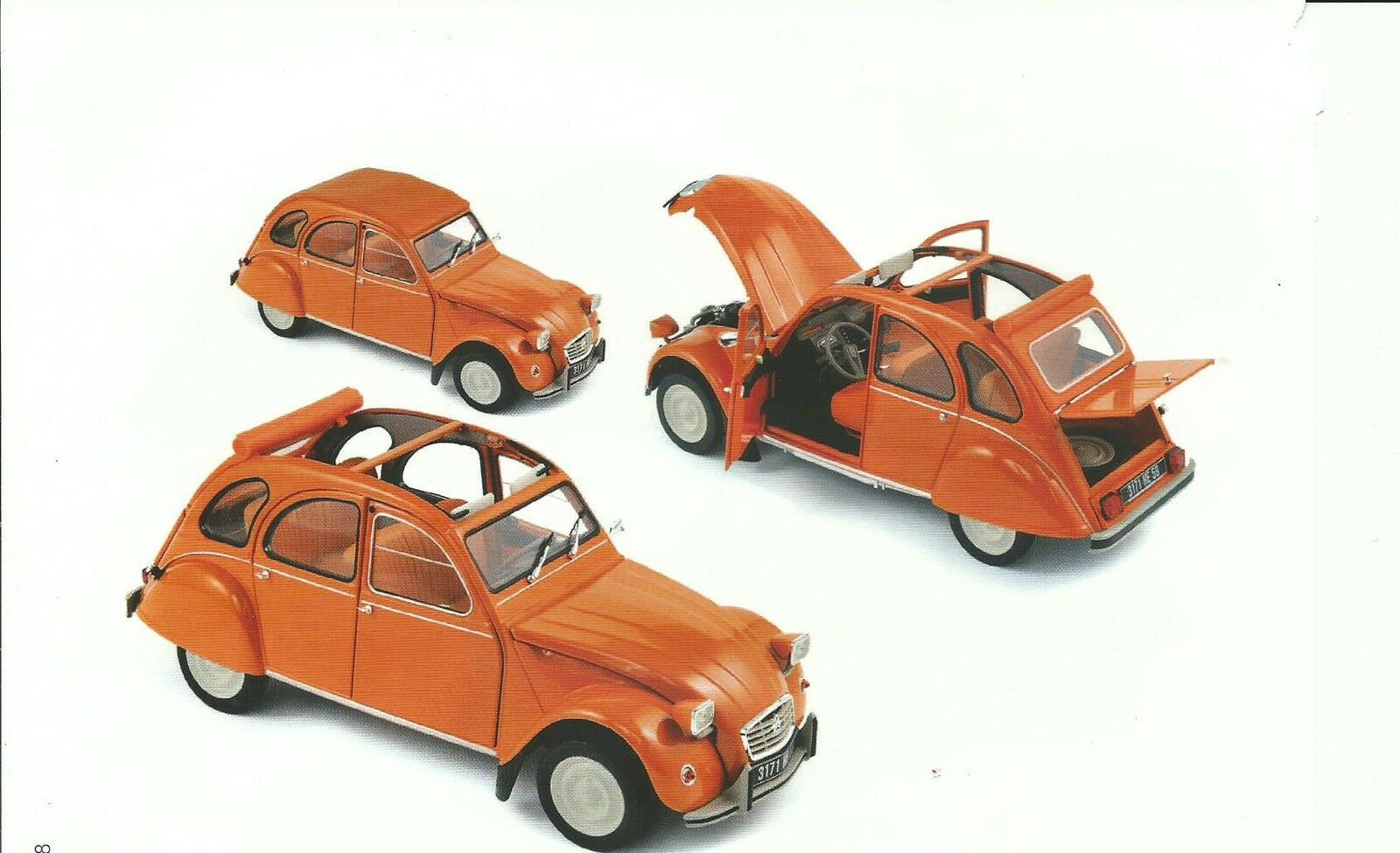 NOREV 1 18 AUTO DIE CAST CITROEN 2CV 6 DU 1976 Orange ART. 181514