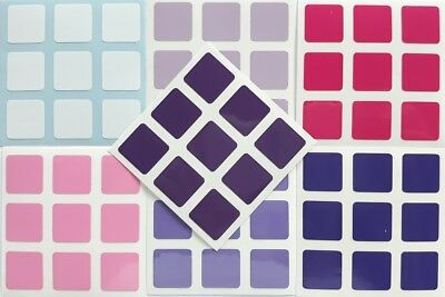 1 of Pink 3x3 57mm Magic Cube Stickers 3x3 57mm Gradient PINK 6 Tons