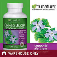 TruNature Ginko Biloba with Vinpocetine, 300-softgels Bottle Nutrition