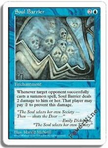 4 PLAYED Soul Barrier - Blue Fifth 5th Edition Mtg Magic Common 4x x4
