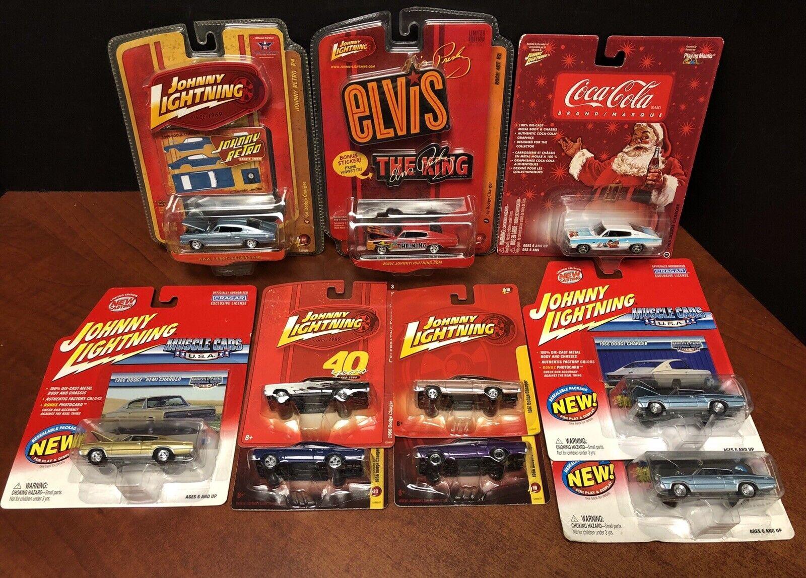 Johnny Lightning 1966 & 1967 Dodge Charger Lot Of 10 EM2976