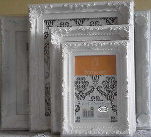 Photo Picture Frames Ornate Shabby Chic Vintage Wedding White Grey