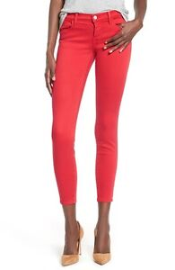 J Brand Ankle Skinny Jeans 922 Pompeian Red 25 27 NWT $178