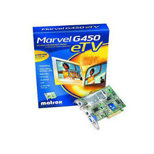 MATROX MARVEL G450 AGP VIDEO CARD eTV CABLE AV IN OUT DUAL HEAD TV OUT TESTED