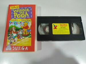Winnie-the-Pooh-Juegos-y-Diversion-Walt-Disney-VHS-Cinta-Espanol-2T