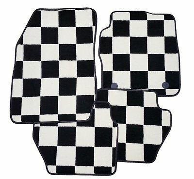 CITROEN DS3 2010 ONWARDS CHECKERED TAILORED CAR MATS