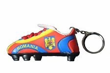 ROMANIA RED BLUE YELLOW COUNTRY FLAG SOCCER  SHOE CLEAT KEYCHAIN .. NEW