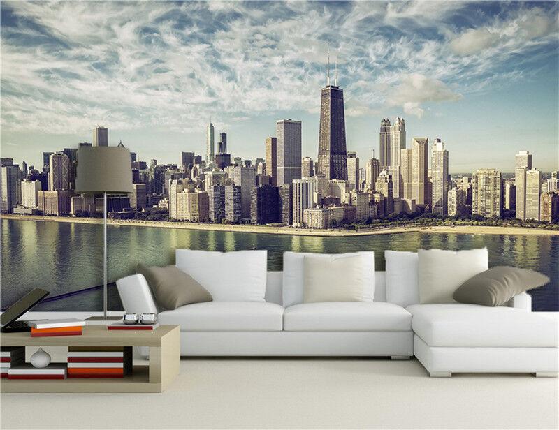 3D Himmel Stadt Malerei 7908 Tapete Wandgemälde Tapeten Bild Familie DE Lemon