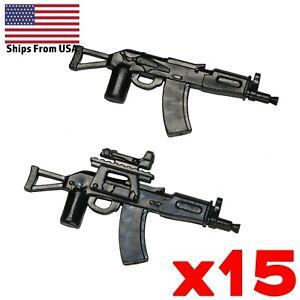 LEGO-Guns-AKSU-74-Assault-Rifle-SMG-Army-SWAT-Modern-Military-Weapon-Lot-x15