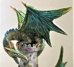 Medieval-Dragon-Wizard-Castle-Sculpture-Statue-Dracula-Gothic-Knight-Fantasy-Art