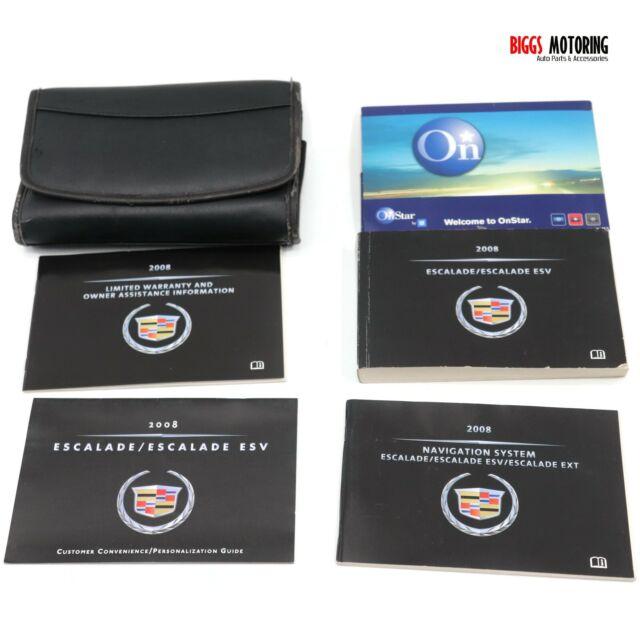 2008 Cadillac Escalade Owners Manual Navigation Guide
