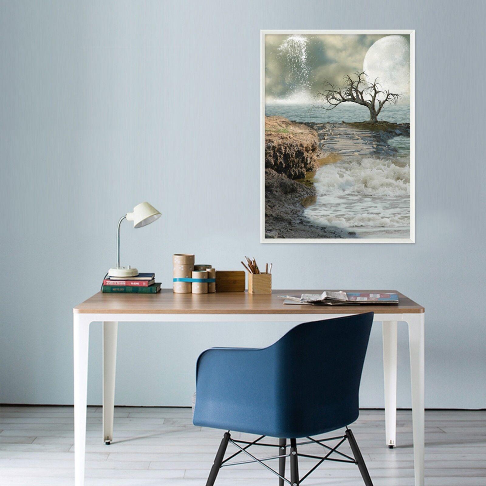 3D Sky Waterfall Water 1 Framed Poster Home Decor Print Painting Art WALLPAPER