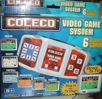2005 Coleco Video Game System 6 Games Football Soccer Plug Play Hockey