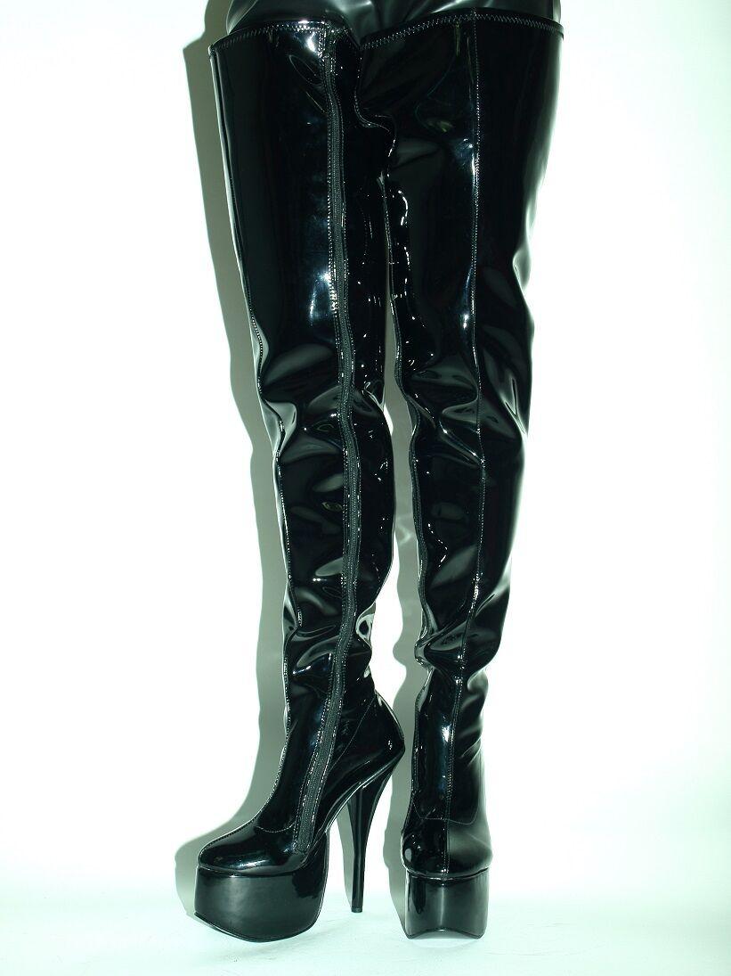 LACK PU HIGH Stiefel Größe 6-16 HEELS-8,1 HEELS-8,1 HEELS-8,1 - 20CM PRODUCER BOLINGIER POLAND 1471 9d478e