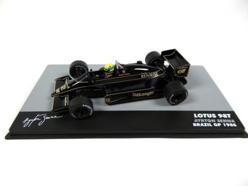 Formel 1 Lotus 98T Ayrton Senna GP Brazil 1986-1:43 MODELLAUTO CAR F1 711