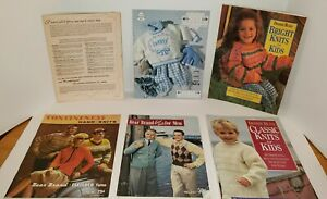 6-Soft-Cover-Vintage-Crochet-Books-Magazine-Debbie-Bliss-Bear-Brand-Country-Baby