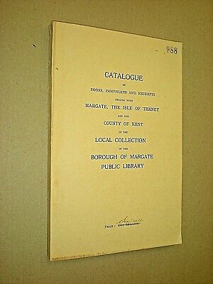 Betrouwbare Catalogue Of Books About Margate, Isle Of Thanet, Kent In The Margate Library