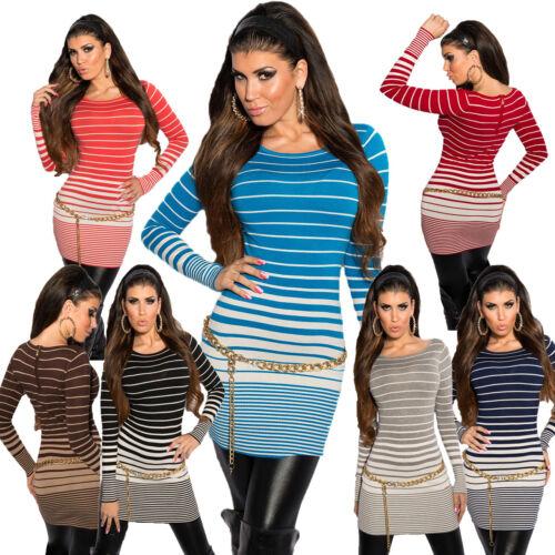 Long señora jersey minivestido vestido suéter s 34 36 38 fiesta antro cálido finamente truco