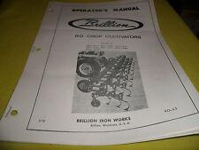 Drawer 14 Brillion Ro Crop Cultivators Operators Manual Brc 430 440 630 More