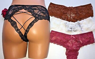 2ddb42afea6 Victoria Secret Very Sexy All Over Lace Exposed Cheeky Pantie M L NEW  16.50