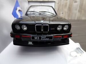 SOLIDO-1-18-BLACK-DIECAST-Detail-BMW-M3-E30-Sport-Evolution-1990-Jouet-Voiture-Modele