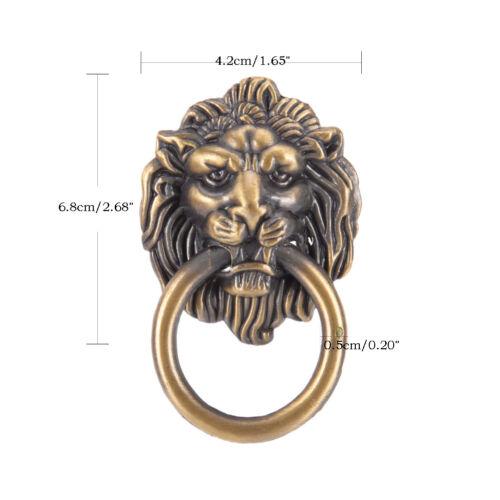 vintage lion head furniture door pull handle knob cabinet dresser drawer riFBDU