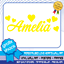WALL ART STICKER GIRLS PERSONALISED NAME DECAL HEART NURSERY BEDROOM DECOR TEXT