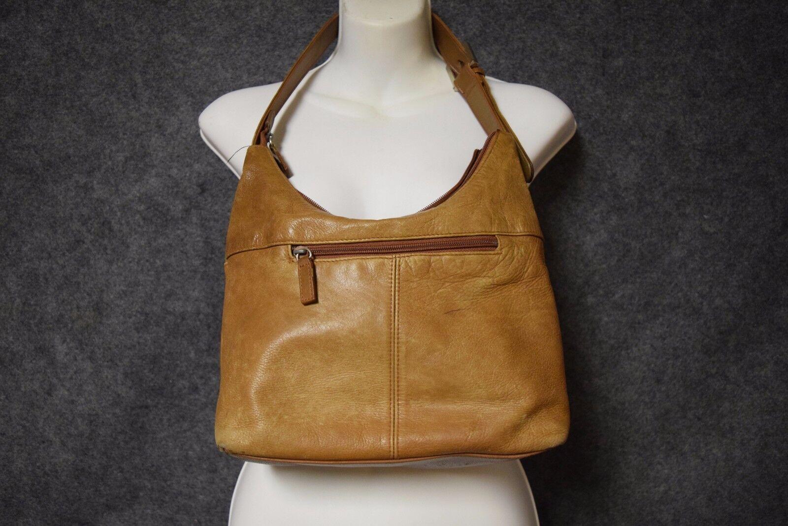 Stone & Co Leather Shoulder Bag Handbag Purse - Light Brown
