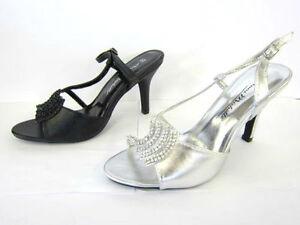 L3415-Ladies-Anne-Michelle-Heeled-Sandals-2-Colours-Black-amp-Silver