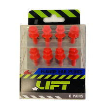 Lift Work Safety Tri Flange 6 Pairs 25db Rated Ear Plugs Reusable Washable