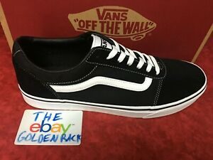 New-Men-Vans-Old-Skool-Ward-Black-Skateboarding-Shoes-Classic-Canvas-Suede
