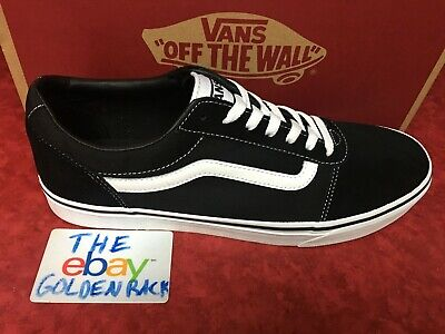New Men Vans Old Skool Ward Black Skateboarding Shoes Classic Canvas Suede | eBay