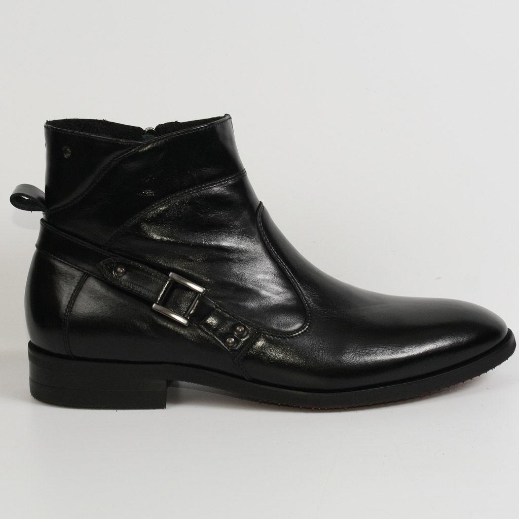 Herren Stiefel Stiefel Business Schwarz Winter Neu Leder 44 Schuhe