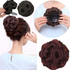 Womens-Short-Curly-Hair-Bun-Updo-HairPiece-Hair-Chignon-Clip-In-hair-Extensions