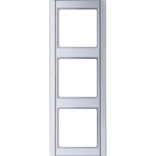 Jung A500 aluminium, RAHMEN 3-FACH A583AL  81x223x10mm
