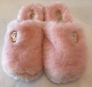 3b89588f5f328 Michael Kors Jet Set Women s Faux Fur Slippers NEW w o Box Slip On ...