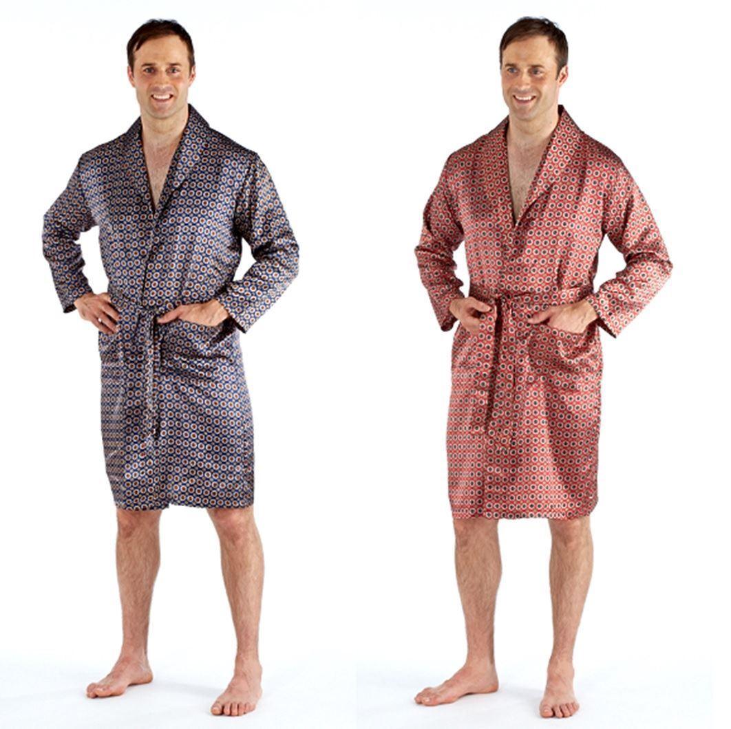 Harvey James Mens Satin Lightweight Summer Wrap Dressing Gown Bath Robe M 2XL