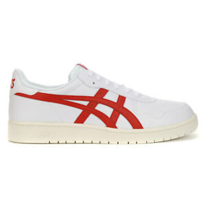 ASICS Tiger Men's Japan S White/Speed Red Sneakers 1191A212.100 NEW